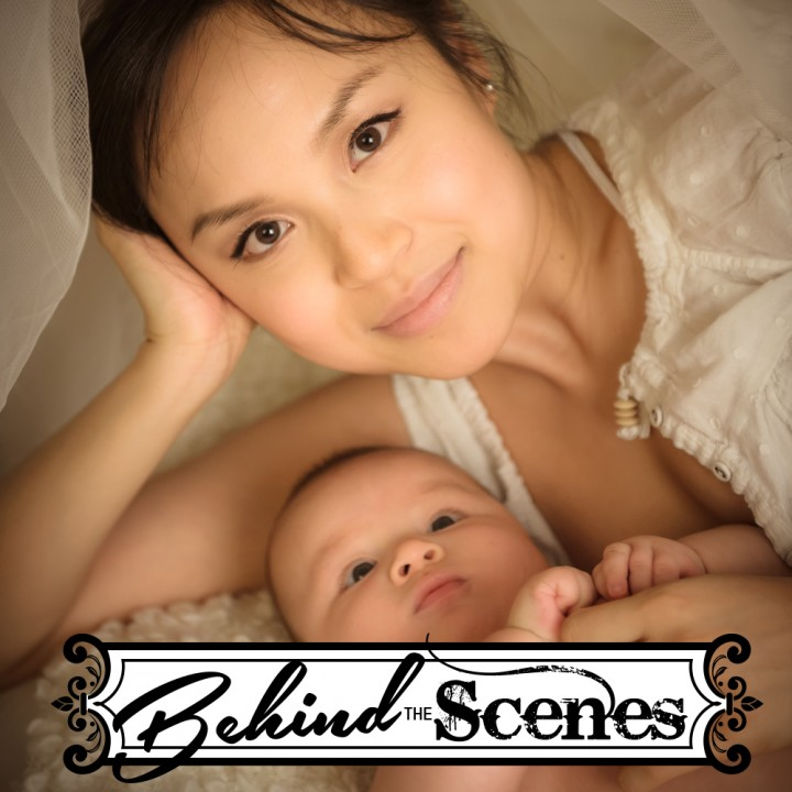 Behind the Scenes - Family Portrait Mom Baby Susan