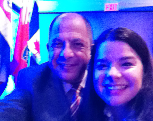 Visit of the President of Costa Rica to Toronto (Photos)