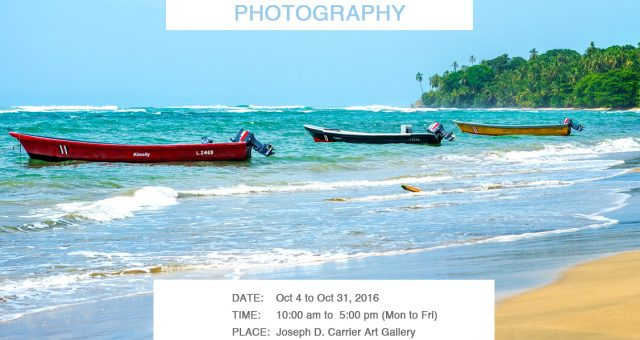 Invitation to my Photo Exhibition at the Joseph Carrier Art Gallery 2016