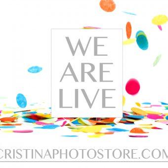 CRISTINAPHOTOSTORE.COM is officially open!